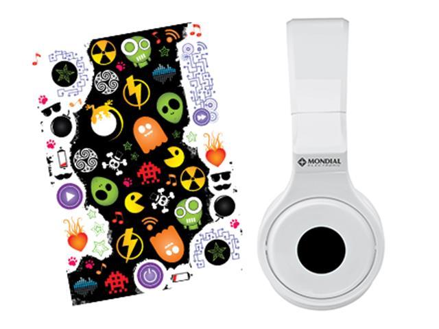 Fone de Ouvido Mondial Branco Head Phone - 2