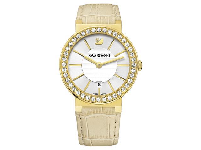 52a656e6f91 Relógio Swarovski Daytime Bege com Dourado Feminino