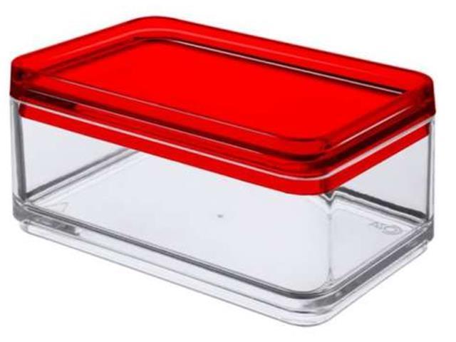Mini Organizador Coza Mod Cristal com Vermelho