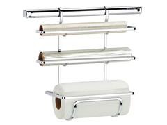 Suporte p Rolo Papel Toalha Aluminio e PVC Brinox Platina Pl