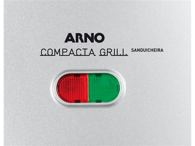 Sanduicheira Arno Compacta Grill Inox 220V - 3