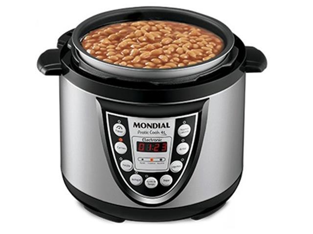 Panela de Pressão Elétrica Mondial Pratic Cook 4L - 1