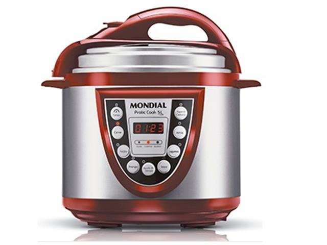 Panela de Pressão Elétrica Mondial Pratic Cook 5L