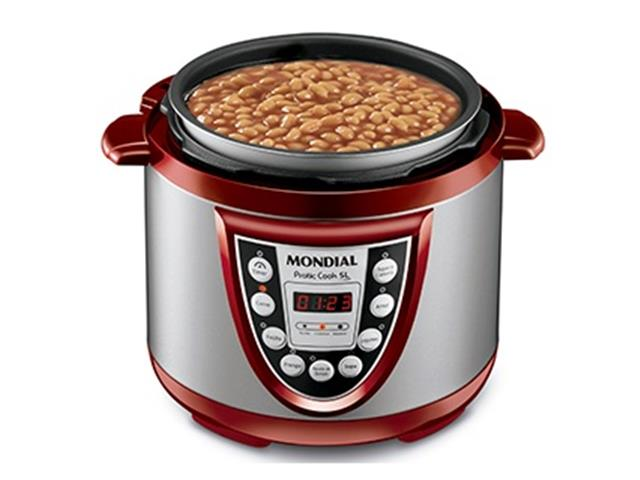 Panela de Pressão Elétrica Mondial Pratic Cook 5L - 1