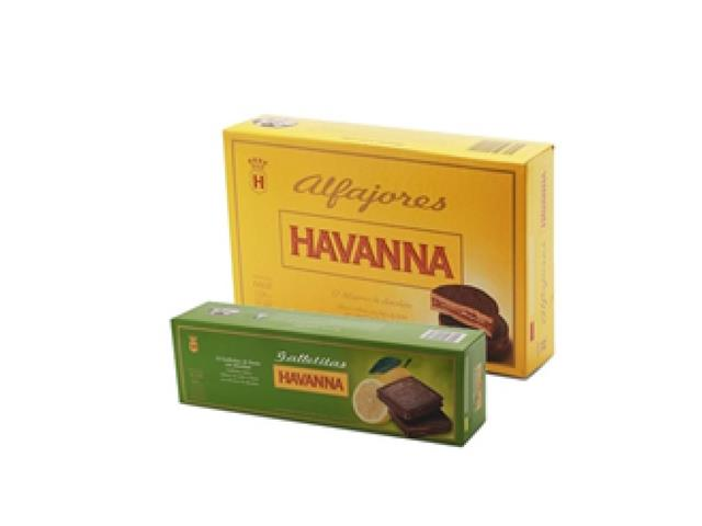 Combo Alfajor Chocolate + Galletina Limón Havanna caixa 12 unid cada