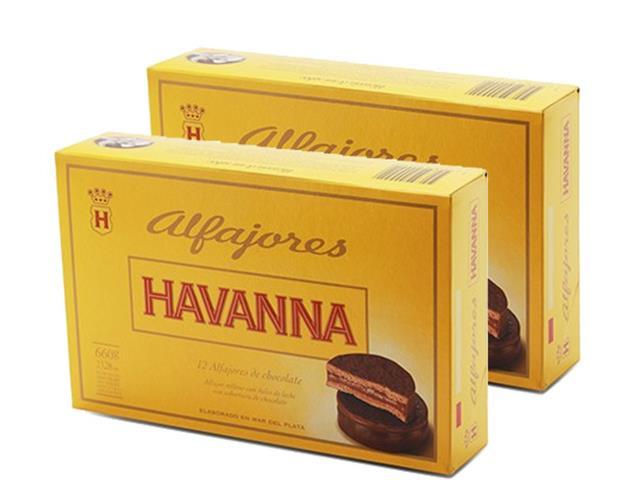Combo Alfajor Havanna com 2 caixas de 12 unidades Chocolate Havanna