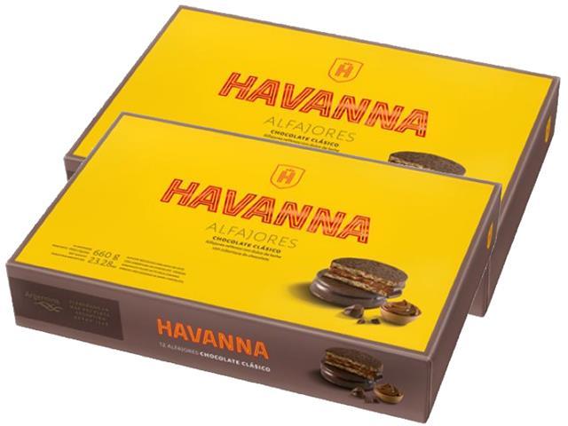 Combo Havanna Alfajores Chocolate - 12 Unidades Cada Caixa