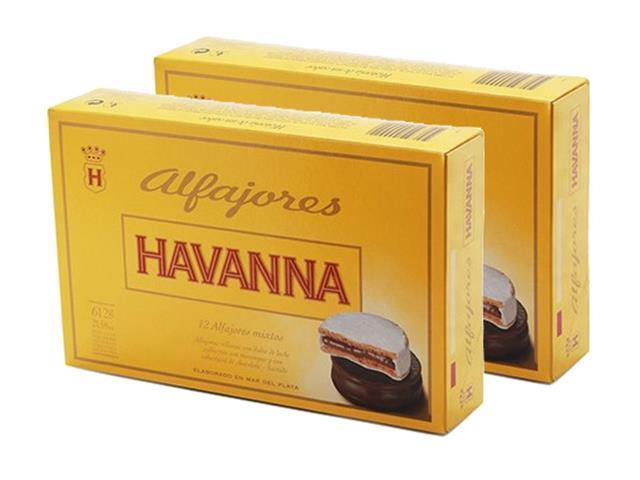 Combo Havanna Alfajores Mistos 12 Unidades e Pote Doce de Leite 450g