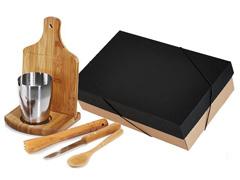 Kit para Caipirinha com Copo Inox Welf Bambu 6 peças