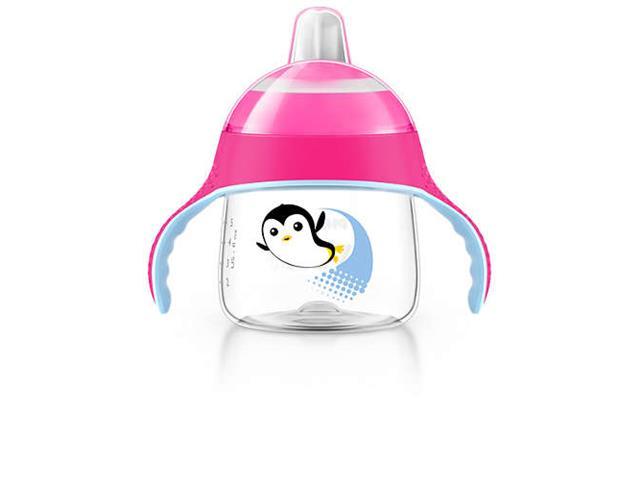 Copo Philips Avent Pinguim Rosa 200mL