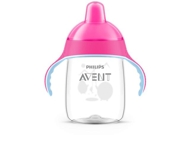Copo Philips Avent Pinguim Rosa 330mL - 1