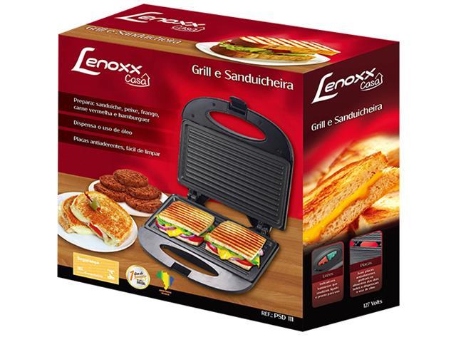 Grill e Sanduicheira Elétrica Lenox - 4