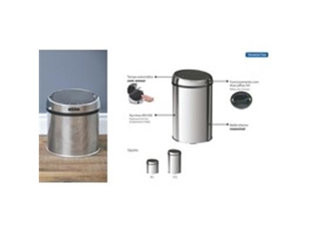 Lixeira com Sensor Tramontina Aço Inox 6 Litros - 4