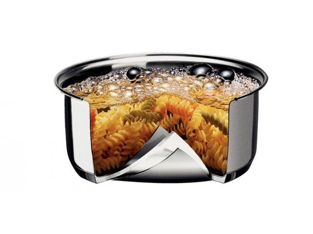 Jogo Cozi-Pasta Tramontina aço inox 2 peças Allegra com tampa de vidro - 1
