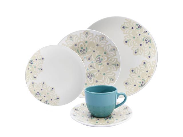 Aparelho de Jantar e Cha Oxford Porcelanas Coup Lindy  - 20 pecas