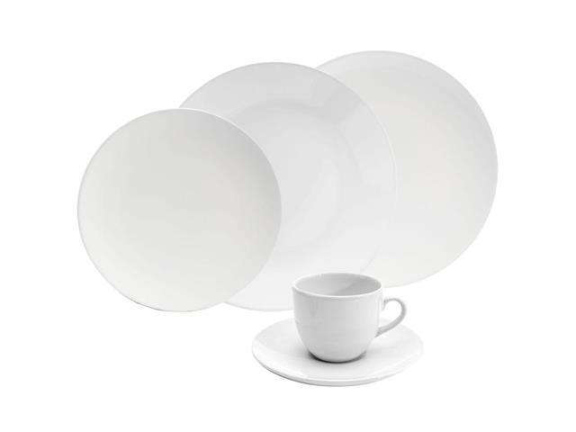 Aparelho de Jantar e Cha Oxford Porcelanas Order Coup White - 30 Pecas