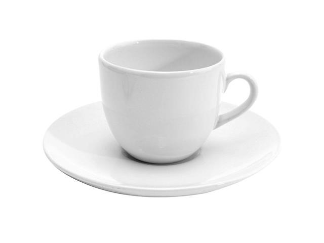 Aparelho de Jantar e Cha Oxford Porcelanas Order Coup White - 30 Pecas - 1