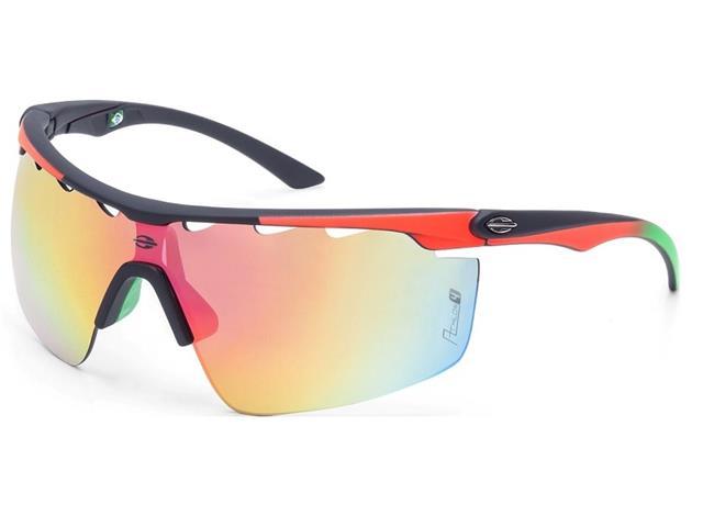 Óculos de Sol Mormaii Athlon 4 Preto Emborrachado Vermelho degrade