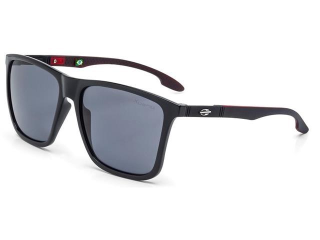 Oculos de Sol Mormaii Hawaii Preto Brilho com Vermelho Fosco