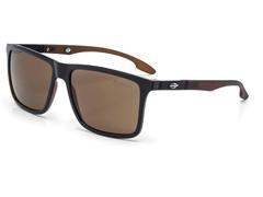 Óculos de Sol Mormaii Kona Preto Parede Marrom Bril com Marrom Fosco - 0