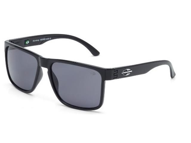 Óculos de Sol Mormaii Monterey Preto Brilho Lente Polarizada