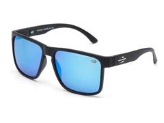 Óculos de Sol Mormaii Monterey Preto Fosco com Azul