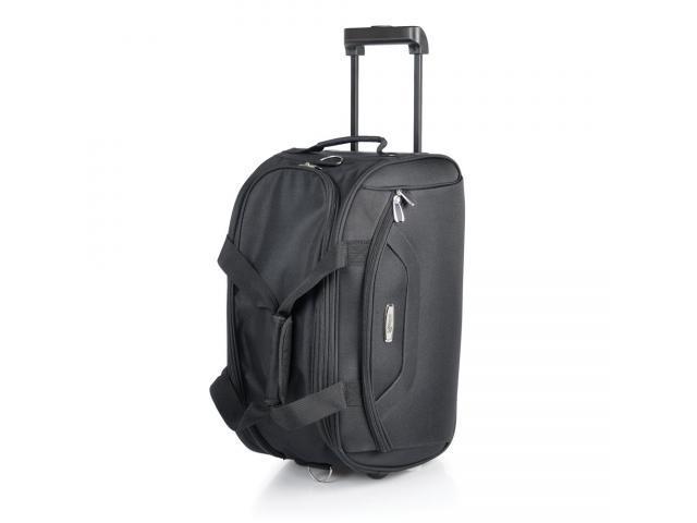 Mala para viagem em polyester 600d preto com rodinhas - 1