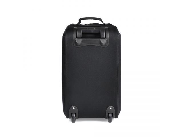 Mala para viagem em polyester 600d preto com rodinhas - 2