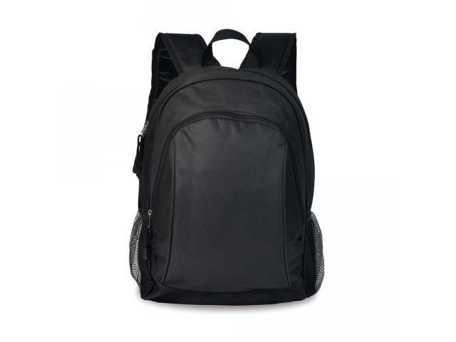 Mochila preta em polyester c/ compartimento para Notebook - Welf - 3