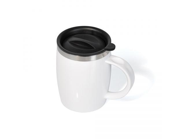 Caneca em aço inox/poliestireno 400 ml - 1