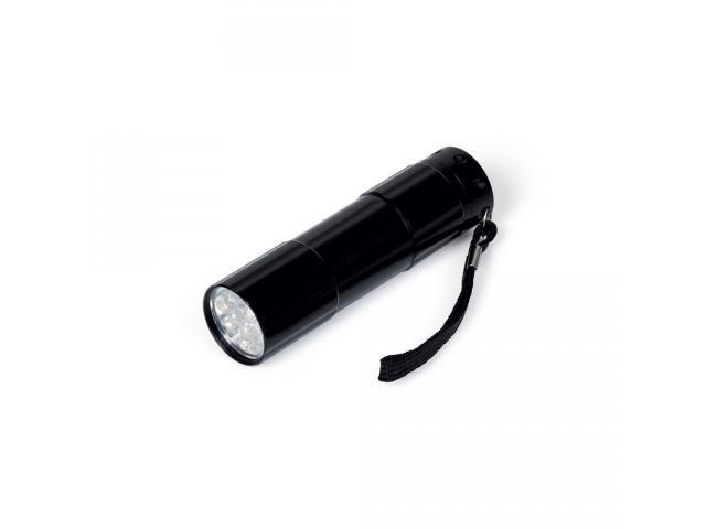 Lanterna LED em alumínio preta