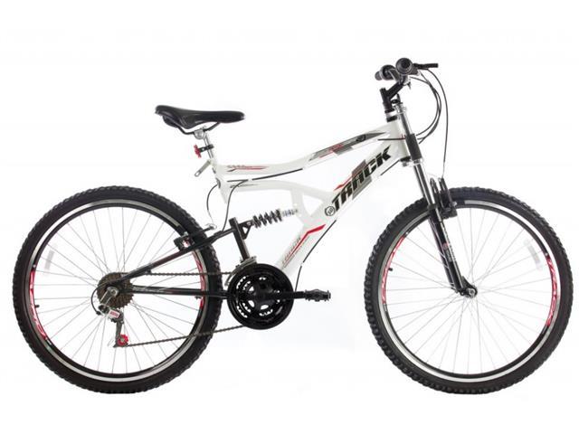 Bicicleta Aro 26 Track Bikes MTB Downhill Boxxer Full 21 V Branco