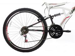 Bicicleta Aro 26 Track Bikes MTB Downhill Boxxer Full 21 V Branco - 1