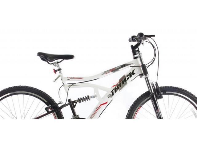Bicicleta Aro 26 Track Bikes MTB Downhill Boxxer Full 21 V Branco - 3