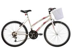Bicicleta Aro 24 Juvenil Track Bikes Parati  18 V Branca