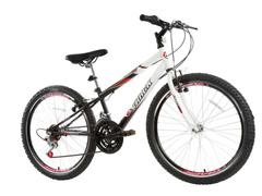 Bicicleta Aro 24 Juvenil Track Bikes Axess 18 V Unissex Branco/ Preto
