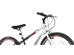 Bicicleta Aro 24 Juvenil Track Bikes Axess 18 V Unissex Branco/ Preto - 1