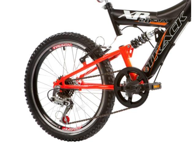 Bicicleta Aro 20 Juvenil Track Bikes XR 20 Full 6 V Preto/ Laranja - 2