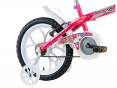Bicicleta Aro 16 Infantil com Cesta Track Bikes Monny Pink Neon - 1