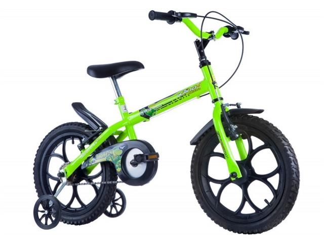 Bicicleta Aro 16 Infantil Track Bikes Dino Neon Amarelo