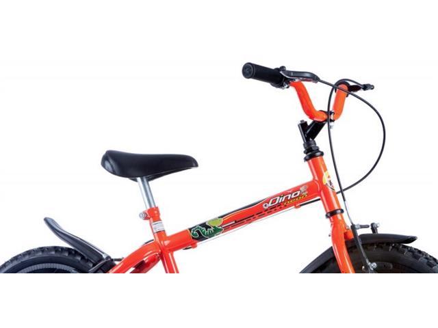 Bicicleta Aro 16 Infantil Track Bikes Dino Neon Laranja - 1