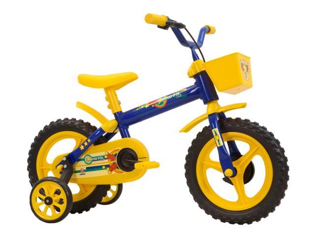 Bicicleta Aro 12 Infantil Track Bikes Arco-Iris Azul/ Amarelo