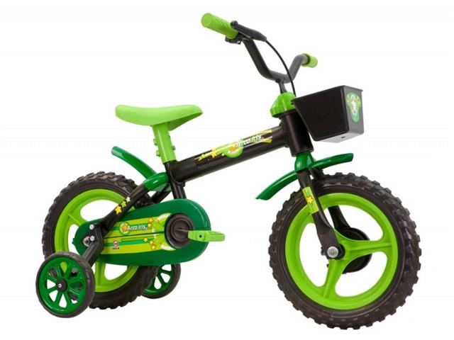 Bicicleta Aro 12 Infantil Track Bikes Arco-Iris Preto/ Verde