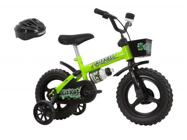 Bicicleta Aro 12 Infantil Track Bikes Kit Kat Verde
