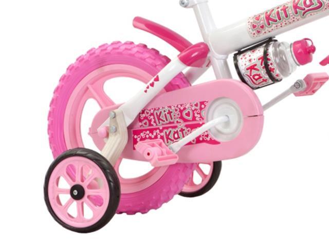 Bicicleta Aro 12 Infantil Track Bikes Kit Kat Rosa - 1