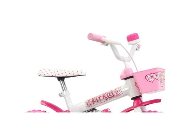Bicicleta Aro 12 Infantil Track Bikes Kit Kat Rosa - 3