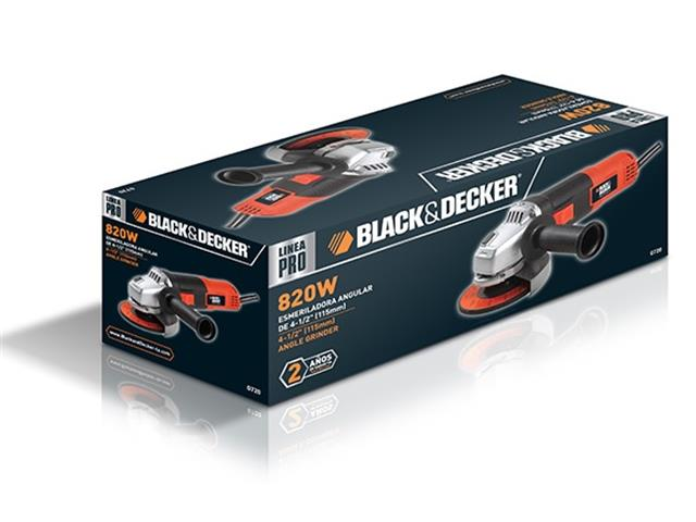 """Esmerilhadeira Angular Black&Decker 1/2"""" 800W 110V - 4"""