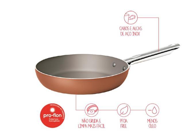 Frigideira Brinox Curry Cobre 22 cm - 1