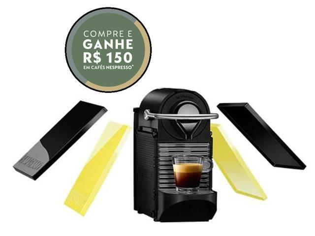Cafeteira Nespresso Automática Pixie Clip C60 Preta e Lima Neon 110v