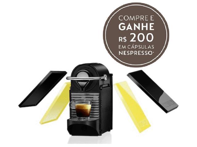 Cafeteira Nespresso Automática Pixie Clip C60 Preta e Lima Neon